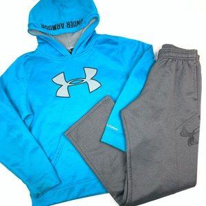 Under armour hoodie sweatpants youth large bundle